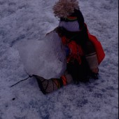 Figure 4.  Doll with ice at Qoyllur Ritti (copyright Constanza Ceruti)