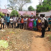 Image 1 Students are engaging in solid waste management within the school