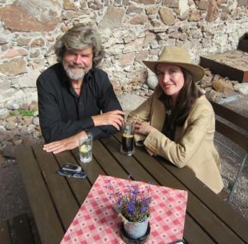 Figura 4 - Reinhold Messner y Constanza Ceruti en el MMM