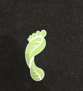 Figure 1: Footprint sticker decal