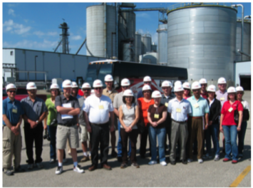 Figure 3.  Teachers visit an ethanol refinery in the Biofuels Academy.