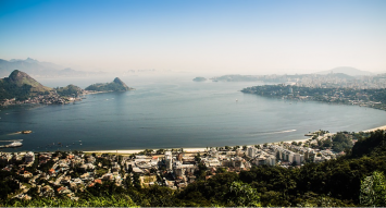"Figure 1: A view of Guanabara Bay. This photo shows what Guanabara Bay looks like from above looking down into it. From ""Rio de Janeiro Olympics 2016,"" by Nuno Lopez, 2016 (https://pixabay.com/en/rio-de-janeiro-olympics-2016-niter%C3%B3i-1534126/). In the public domain."