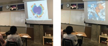Outreach to underrepresented high schools focused on DNA nanotechnology and electron microscopy. DNA origami and nanoART are art-science intersections that inspire creativity in science education. A program called caDNAno was used to design a DNA origami shamrock, which was folded and visualized using an Atomic Force Microscope. To teach students DNA origami in the classroom, various models and simulations were made. NanoART, or the colorization of electron micrographs, captures students' imaginations and illustrates features in nanoscale objects.