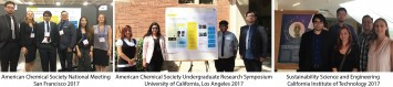 PCC students presented the results of their sustainability research and outreach efforts at the American Chemical Society National Meeting in San Francisco, the UCLA Undergraduate Research Conference, and at Caltech.
