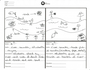 Figure 2.  An example student storyboard.