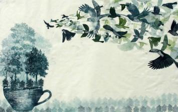 Shade Grown Coffee, mono print